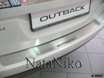 NataNiko Накладка на задний бампер Subaru Outback IV 2009-2014