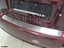 NataNiko Накладка на задний бампер Suzuki SX4 4D 2006-