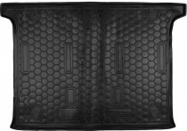 Полиуретановый коврик багажника Fiat Doblo 2010- короткая база 5 мест Avto Gumm