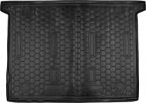 Полиуретановый коврик багажника Fiat Doblo 2010- короткая база 7 мест Avto Gumm