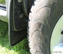 Брызговики Renault Duster 2010- увеличенный передние