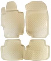 Коврики резиновые Honda Accord 2003-2008 БЕЖЕВЫЕ Nor-Plast