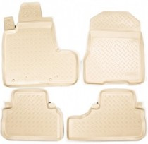Коврики резиновые Honda CR-V 2006-2012 БЕЖЕВЫЕ Nor-Plast