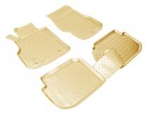 Коврики резиновые Infiniti M35/M45 2005-2010 БЕЖЕВЫЕ Nor-Plast