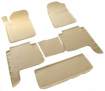 Коврики резиновые Infiniti QX56/QX80 2010-2014 БЕЖЕВЫЕ Nor-Plast