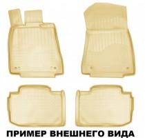 Коврики резиновые Mitsubishi Outlander XL БЕЖЕВЫЕ  Nor-Plast