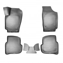 Коврики резиновые VW Polo Sedan 2010- 3D Nor-Plast