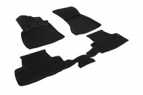Глубокие коврики в салон Audi Q5 2008-2012  полиуретановые L.Locker
