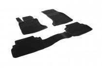 Глубокие коврики в салон BMW 5 series (E60) sedan  полиуретановые L.Locker