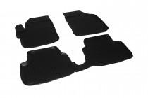 Глубокие коврики в салон Chevrolet Spark 2005-2010 полиуретановые L.Locker