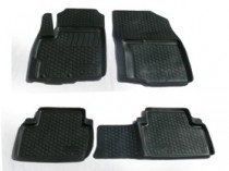 Глубокие коврики в салон Citroen C-Crosser/Peugeot 4007/Mitsubishi Outlander XL  полиуретановые L.Locker