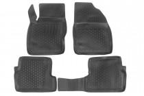 Глубокие коврики в салон Ford Focus II 2008- полиуретановые L.Locker
