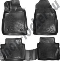 Глубокие коврики в салон Ford Fiesta MK6 2013- полиуретановые L.Locker