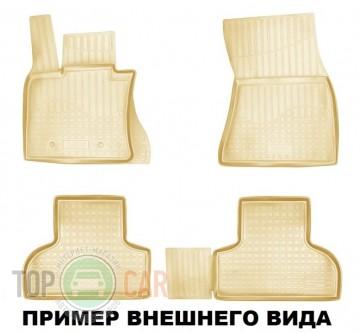 Nor-Plast Коврики резиновые Daewoo Matiz 2005- бежевые