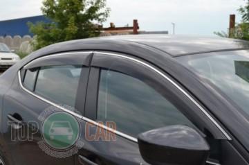Cobra Tuning Дефлекторы окон Chevrolet Lacetti sedan с хромированным молдингом