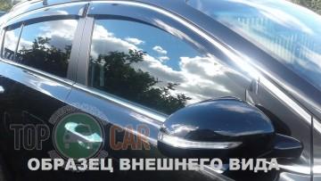 Cobra Tuning Дефлекторы окон Geely Emgrand EC7 sedan с хромированным молдингом