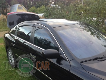 Cobra Tuning Дефлекторы окон Hyundai Grandeur 2005-2011 с хромированным молдингом
