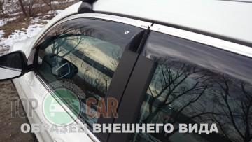 Cobra Tuning Дефлекторы окон Toyota Corolla 2007-2013 с хромированным молдингом