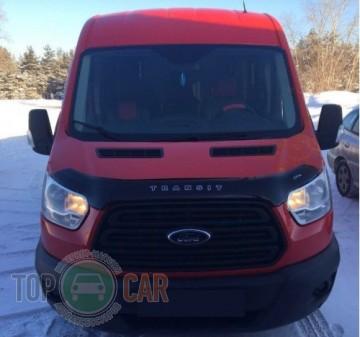Дефлектор капота Ford Transit  2014- (Вариант Б)