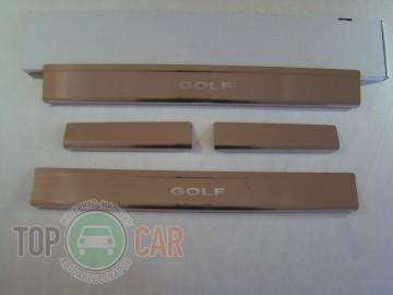 Накладки на пороги стальные VW GOLF IV 5D 1997-2003
