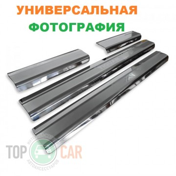 Накладки на пороги стальные VW GOLF VI KOMBI 2009-