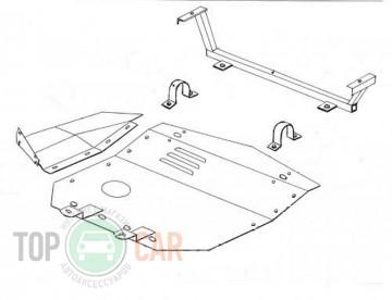 Защита двигателя Audi 100/A6 C4