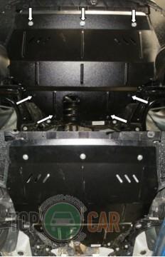 Кольчуга Защита двигателя Volkswagen Polo 2009-, V 1.2D