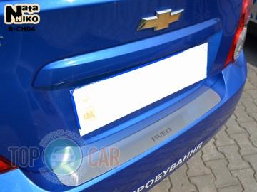 Накладка на задний бампер Chevrolet Aveo 4D 2011-