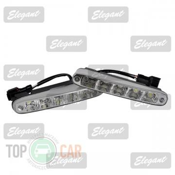 Elegant Дневные ходовые огни Maxi 1W*5LED, 160*25*53мм  с автопереключателем света