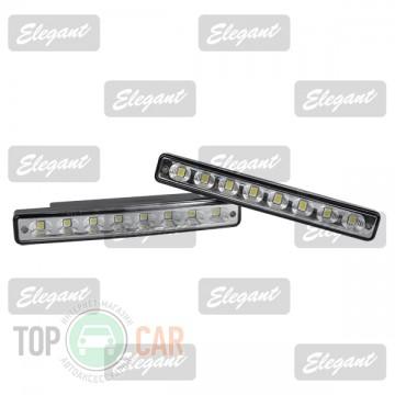 Elegant Дневные ходовые огни Maxi 0.5W*8LED, 160*22*32мм с автопереключателем света