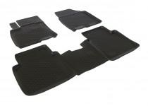 L.Locker Глубокие коврики в салон Nissan Qashqai+2  полиуретановые