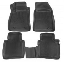 L.Locker Глубокие коврики в салон Nissan Sentra 2012-  полиуретановые