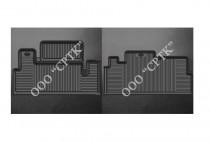 Глубокие резиновые коврики ГАЗель Фермер задние SRTK (Саранск)