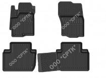 Глубокие резиновые коврики Citroen C-Crosser/Peugeot 4007 SRTK (Саранск)