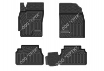 Глубокие резиновые коврики Chevrolet Epica/Evanda/Chery Eastar SRTK (Саранск)