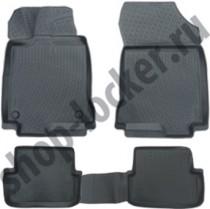 Глубокие коврики в салон Fiat 500L полиуретановые L.Locker