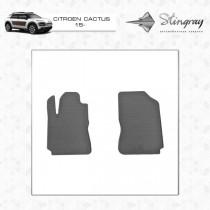 Коврики резиновые Citroen C4 Cactus 2015- передние Stingray