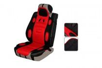 Накидка на сиденье черно-красная