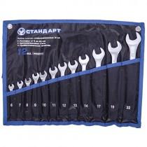 Набор комбинированных ключей 12 единиц (6-14, 17, 19, 22) в сумке  СТАНДАРТ