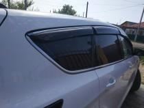 Дефлекторы окон Mitsubishi Outlander 2012- (третья часть) с хромированным молдингом Cobra Tuning