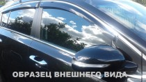 Cobra Tuning Дефлекторы окон Mitsubishi Pajero Sport III 2015- с хромированным молдингом