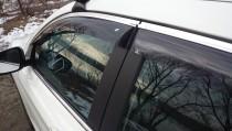 Cobra Tuning Дефлекторы окон Nissan Qashqai+2 с хромированным молдингом