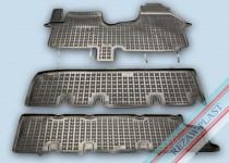 Коврики резиновые Opel Vivaro/Renault Trafic 2014- одна сдвижная дверь без печки Rezaw-Plast