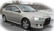 Дефлекторы окон Mitsubishi Lancer X sedan/hatchback ANV air