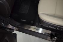 Накладки на внутренние пороги Hyundai Santa Fe/Grand Santa Fe 2012- NataNiko