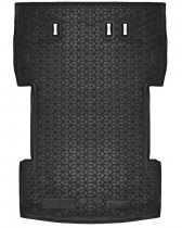 Полиуретановый коврик багажника VW Caddy Maxi 7 мест 2004-2015 Avto Gumm