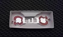 Заглушки ремней безопасности универсальные Apple красные