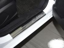 Накладки PREMIUM на пороги Mercedes-Benz CLA-class/A-class 2013-/2018- NataNiko