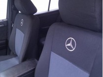 Оригинальные чехлы Mercedes Vito (1+2/1+2+2 подлок 3 диван)(9 мест)2014-2018 EMC