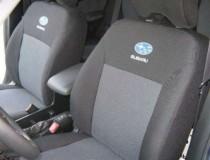 Оригинальные чехлы Subaru Forester 2003-2008(подлокотник + аэрбег) EMC